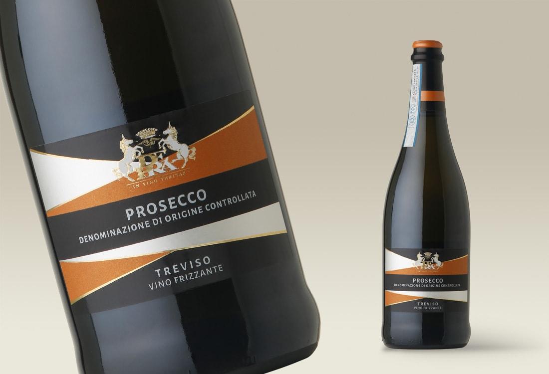 etichetta per vino frizzante