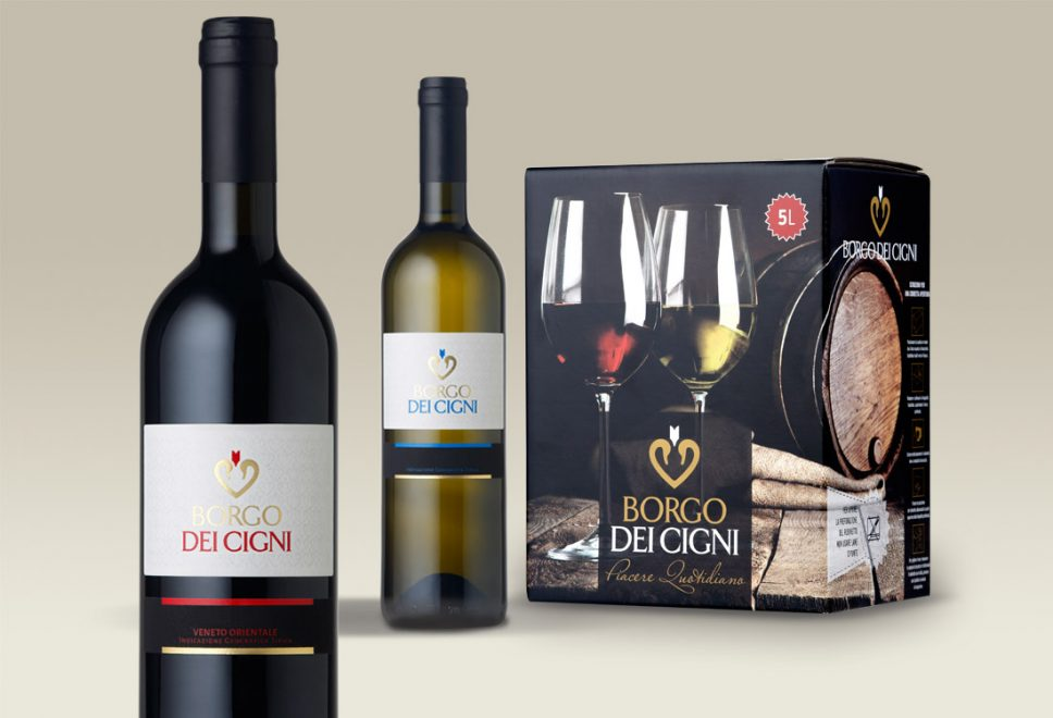 "Wine packaging e ""bag in box"" Borgo dei Cigni"