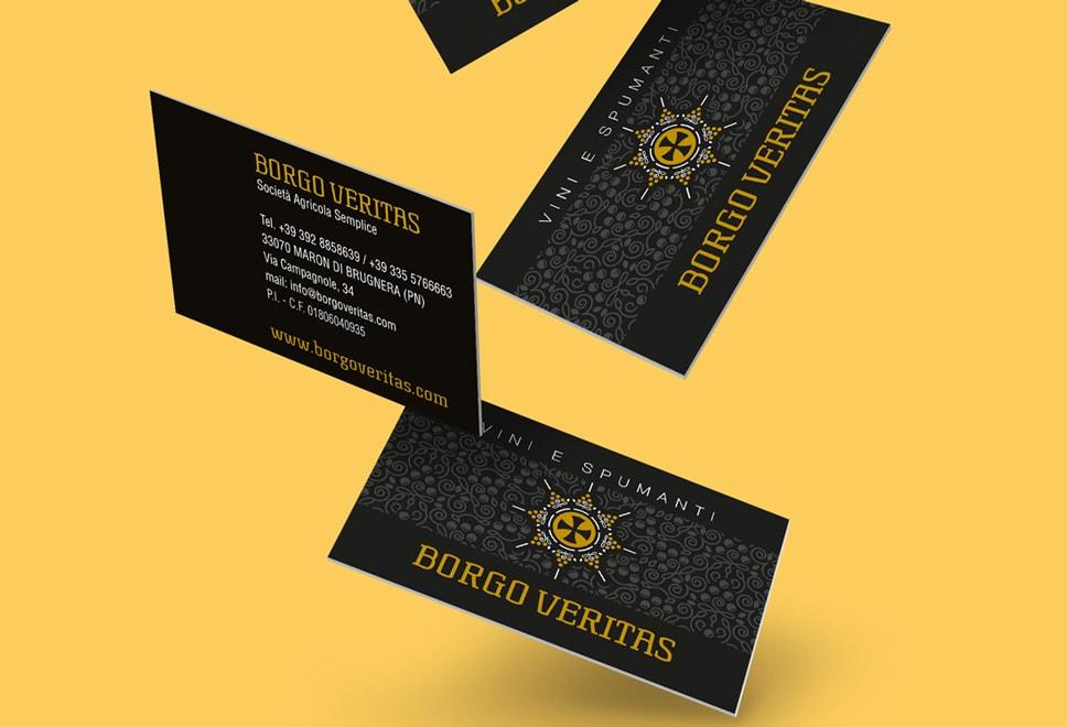 Progettazione biglietto da visita borgoveritas